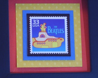 Yellow Submarine - Framed Postage Stamp - No. 3188o