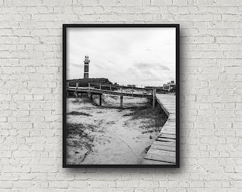 Buenos Aires Strand drucken digitalen Download / Fine-Art Print / Kunst / Home Decor / schwarz-weiß Fotografie / Reisefotografie