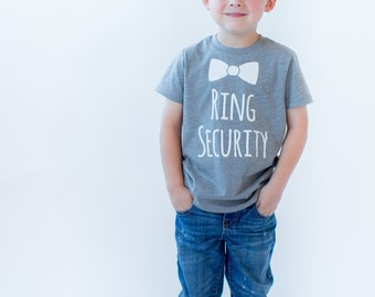 Ring Security Shirt Ring Bearer Shirt Ring Bearer T-Shirt,Ring Bearer monogram name shirt,Ring bearer gift Ring Security Top