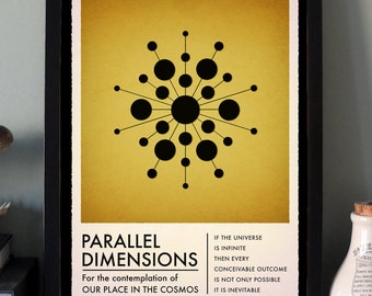 Parallel Dimensions - science/physics/multiverse art print SMALL and LARGE