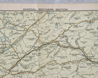1904 Donegal Ireland Antique Map