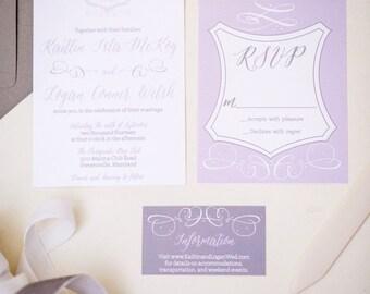 Custom Crest Wedding Invitation Suite -100