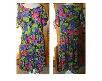 Floral Rayon Maxi Dress - Jasmine Label - Size M