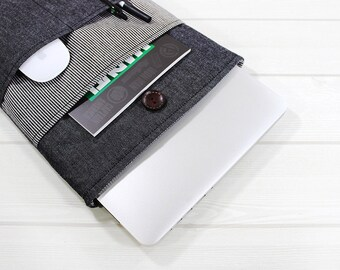 Macbook Air case, Macbook sleeve 12, laptop sleeve, laptop case, Macbook Pro case, 11 inch laptop case, laptop bag, Dell XPS sleeve