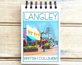Langley BC Canada - Love This Place - Cityscape Notebook - Vancouver - Notepad Custom Gift - The Jitterbug Shop