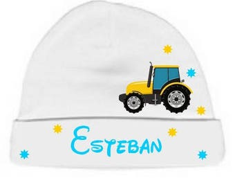 Beanie Baby white tractor personalized with name