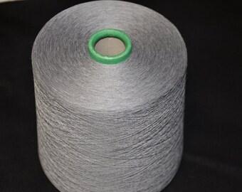 1 spool 1.000 g 50% cashmere 50 Silk yarn grey 50 number metric knitting  on a cone