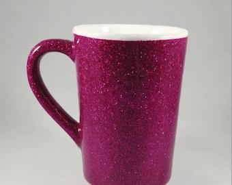 Pink Glitter Coffee Mug - 14 oz.