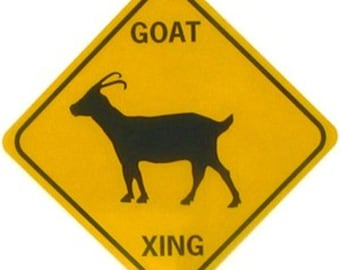 "GOAT XING 12X12"" .040 Aluminum W/Vinyl Graphics Sign"