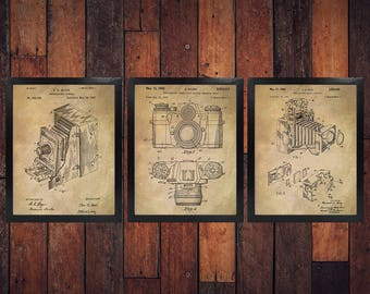 Vintage Camera Patent Print (Set of 3) - Photography - Camera Design - 3 Pack (INSTANT DOWNLOAD)