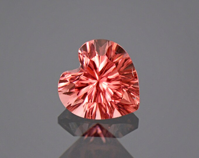 FLASH SALE! Excellent Concave Pink Heart Tourmaline Gemstone from Afghanistan 1.90 cts.
