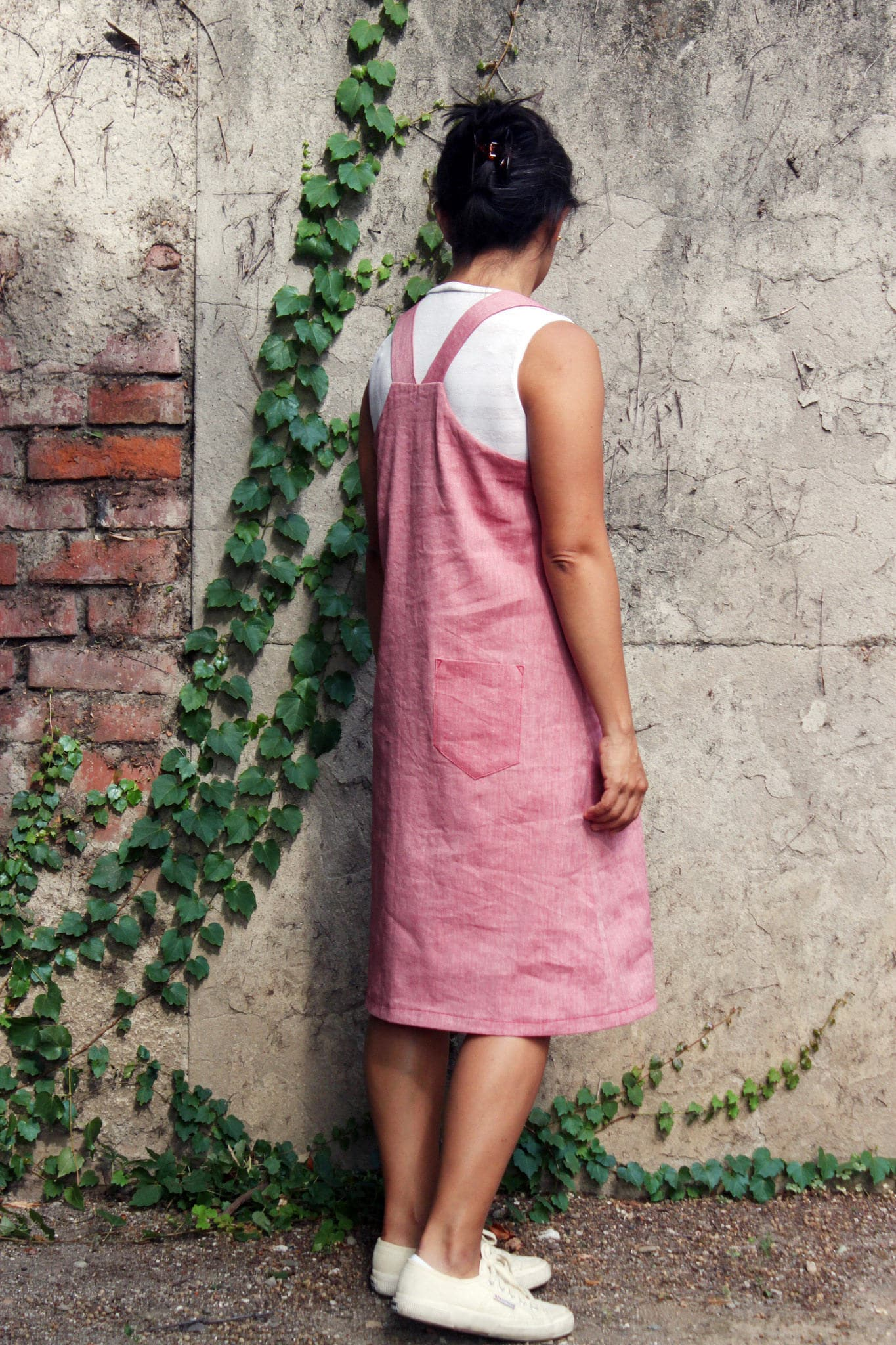 Woman overall dress dungarees dress dungarees woman linen
