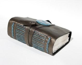 Metallic Leather Journal Notebook