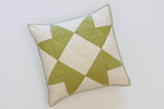Green Farmhouse Throw Pillow