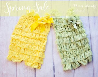 Lace Romper, Easter Outfit, First Easter Outfit, Yellow Easter Outfit, Apple Green Lace Romper, Lace Romper, 1st Easter Outfit, Lace Romper,