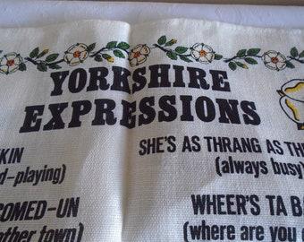 Yorkshire expressions linen tea towel