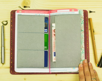 Felt Card Holder for Midori Nested Double-sided Felt Pocket for Cards and Business Card Standard Size Midori Travelers Notebook Fauxdori