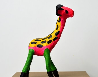 Humpty! Papier Mache Goat Sculpture Multicolour