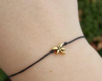 Nature Jewelry, Dragonfly Bracelet, Dragonfly Anklet, Dainty, Dragonfly Jewelry, Dragonfly Wish Bracelet, Dragonfly Friendship Bracelet