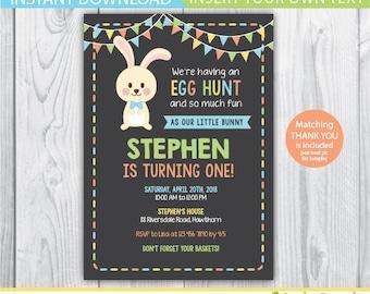 easter birthday invitation / egg hunt invitation / easter birthday party invitations / easter birthday invites / egg hunt birthday invite