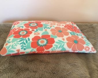 Cat Bed or Small Dog Bed   pillow,  fleece, flannel, cute, soft, washable, floral, pattern, print