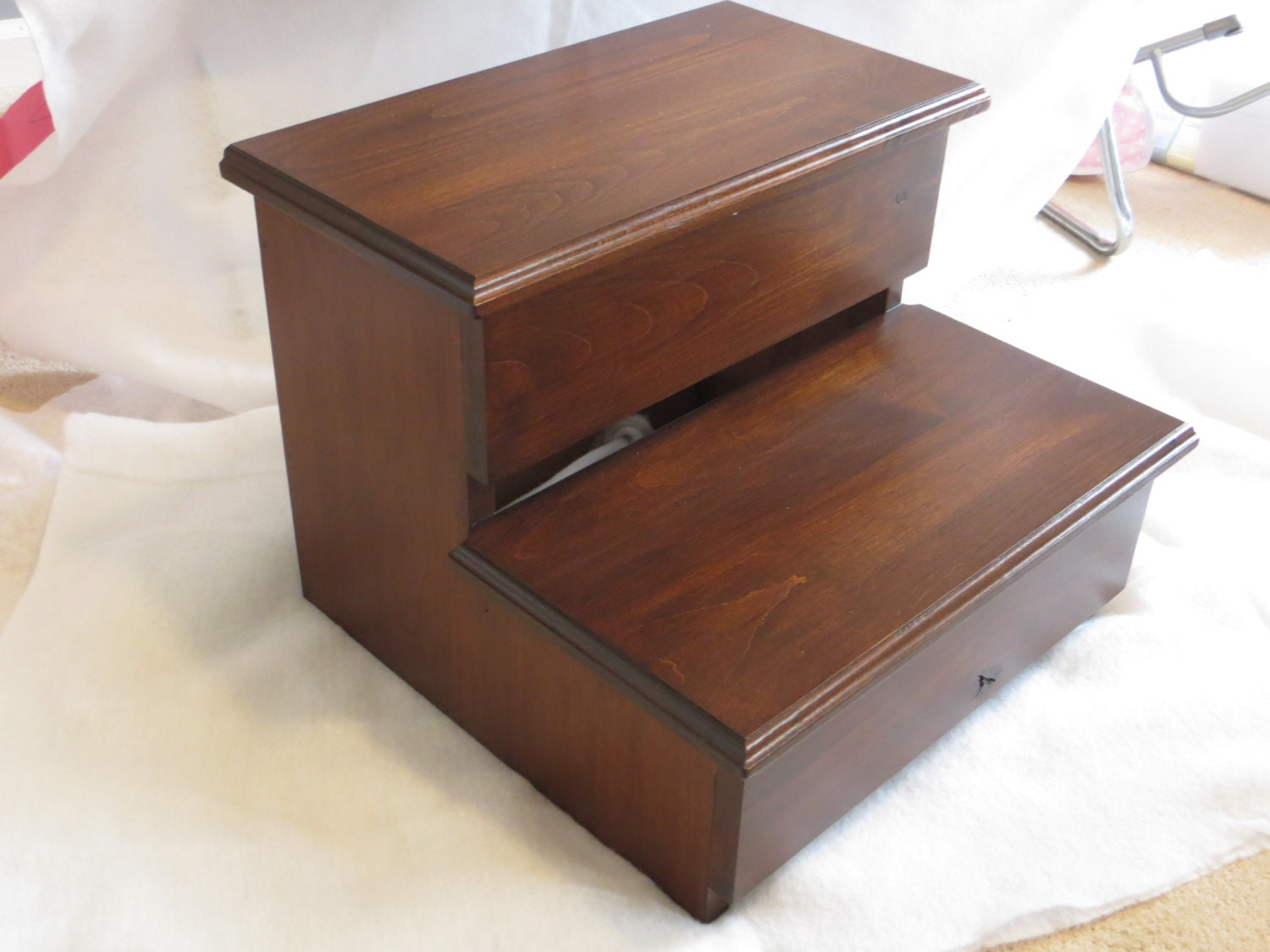 wooden pantry zoom hardwood size adult kitchen alder xl step listing stool il fullxfull wood