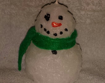 Snowman Candle, Grubby Snowman Candle, Fat Snowman Candle