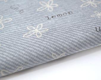 Scripture 50 X 145 cm grey color cotton fabric