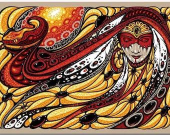 2017 Jeff Wood Widespread Panic Serpent Mother Sticker