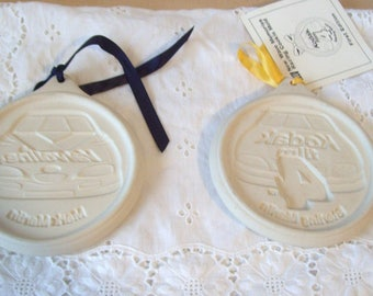 Vintage 1997 Set of 2 New Wave Memories by Pfaltzgraff Race Car Cookie Molds Sterling Martin & Mark Martin