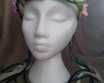 Leaves and Blossoms Flower Crown- Wear Two Ways!