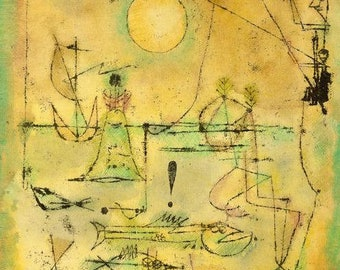 PAUL KLEE - 'They're Biting' - original archival quality print (Curwen Press, London)