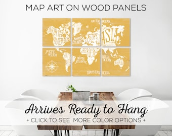 World Map Print - Large World Map Canvas - Personalized Map - Wall Art Vintage Map - Extra Large Map - Travel Map - Wall Map Art - Map Print