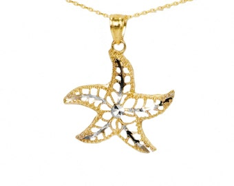 10k Yellow Gold Starfish Necklace