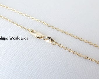 """26"""" - 18KT Yellow Gold Filled Chain - Dainty Fine - 26"""" - 26 Inch - Lobster Claw Clasp - 18 Karat KT YGF - Cable Chain"""