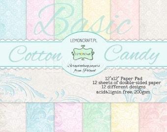 Lemoncraft Cotton Candy Basics 12x12 Scrapbook Paper Stack