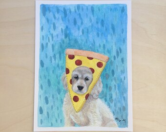 Pupperoni - Unframed 5.5x7.5 Limited Edition Giclee Print