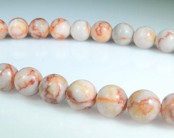 Red Line Jasper Beads, 8mm Round Beads, Natural Gemstone, High Quality, 1 Full Strand 46 beads