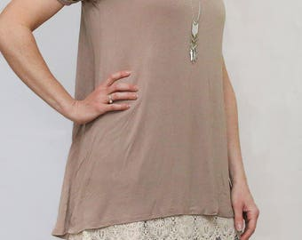 T7- Lace Top Shirt Extender *Style 7* Small-Large