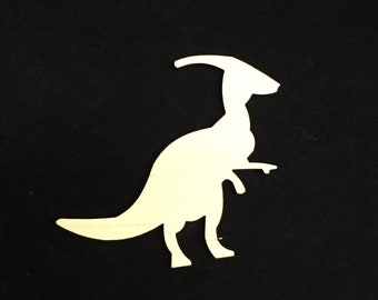Parasaurolophus Dinosaur Shape, Blank, Unfinished Wood Cut Out, Craft Supply, Ready to Paint, Laser Cut, Wood Blank, Custom, Wood Shape