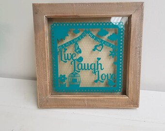 SALE-Live,laugh,love decorative frame