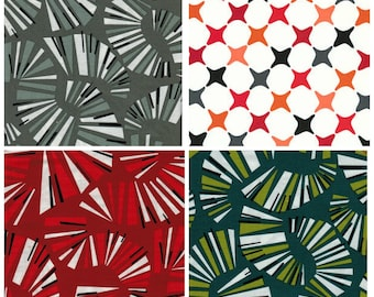 Sale! 4 Fat Quarters from Jane Dixon Poppy Modern Andover Fabrics Out of Print