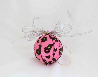Cheerful Pink Ornament, Ornaments, Christmas Ornaments, Girly Ornaments