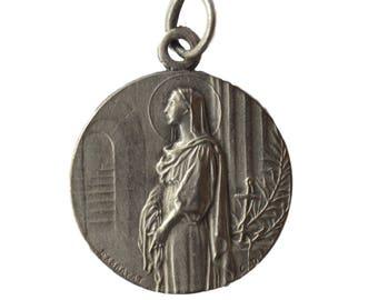 St John Vianney Curé d'Ars - Saint Philomena - French Religious Medal Pendant by EXBRAYAT - Catholic Patron Saint Priests Pastors
