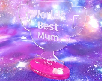 Worlds Best Mum Gift ~ Mothers Day ~ Personalised ~ Trophy ~ Unique Gift ~ Mothers Day Gift ~ Mothers Day Present ~ Top Mum