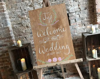 Wooden A2 Welcome Sign