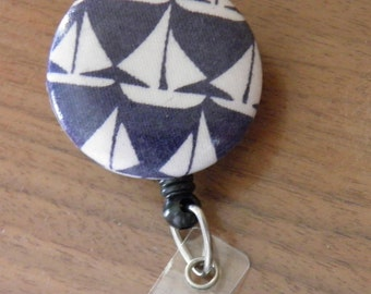 Sailboat badge holder