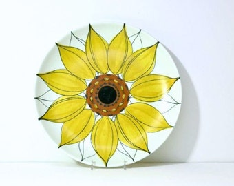 MidCentury Sun Rose by Arabia of Finland 12 1/2 inch XL Platter Sunflower Plate