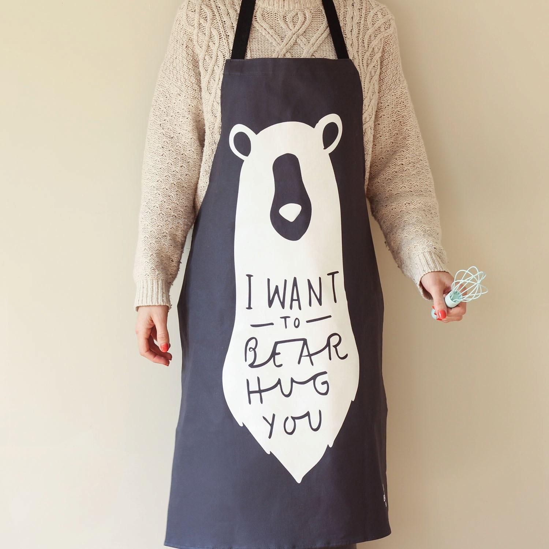 Bear Hug Apron Kitchen apron unique adult apron kitchen