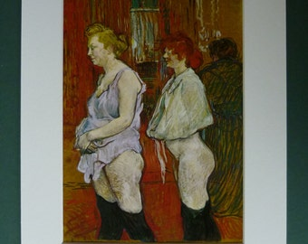Naked vintage prostitutes, crura stimulation